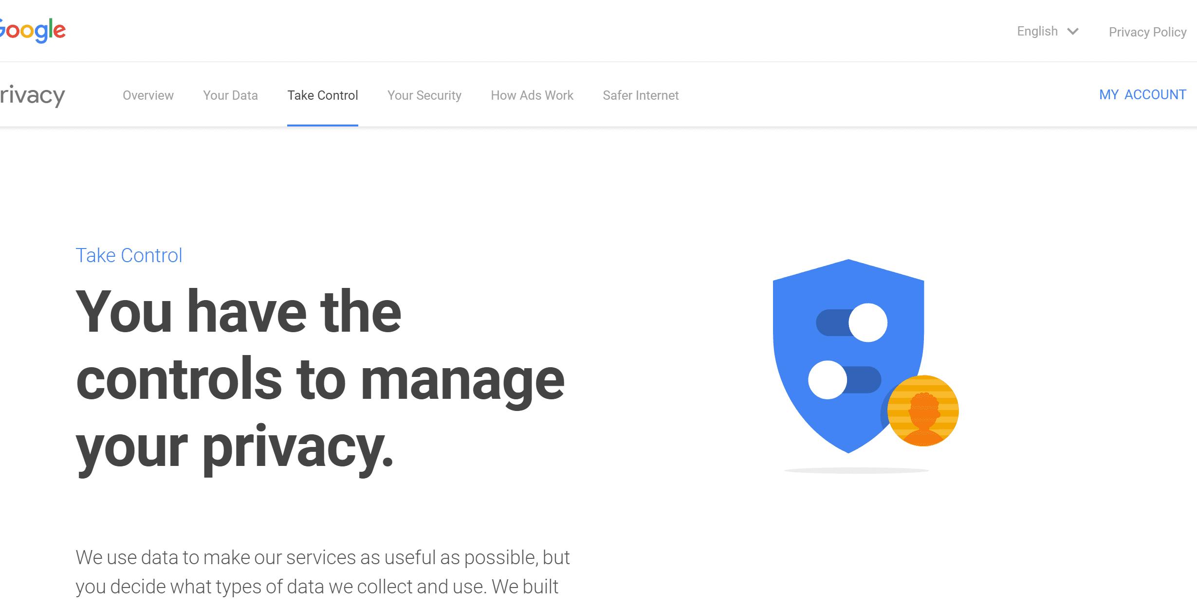 google privacy screen
