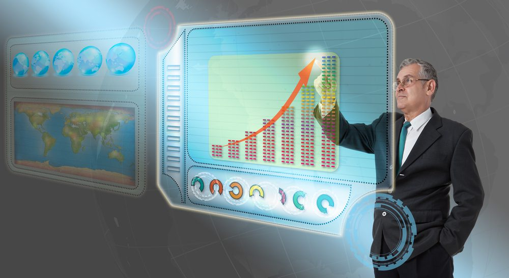 supply chain executive analyzing data to increase revenue